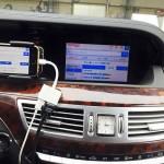 メルセデスベンツ Sクラス(W221) 純正ナビに、iPhoneの画面をミラーリング
